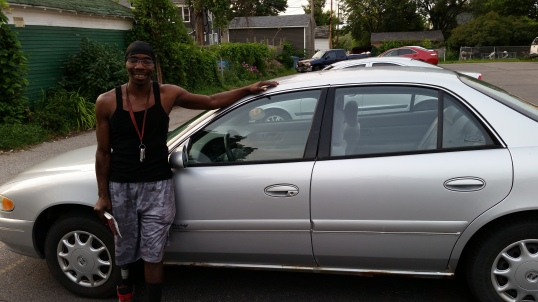 Tyrese with his new car