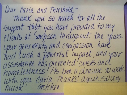Thank you from Gretchen at Simpson Housing 2016-01
