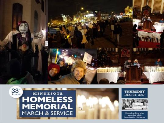 Homeless Memorial March 2017