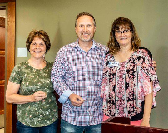 Deb Nygaard Roseville Rotary with Richard & Carla Bahr 2019-06